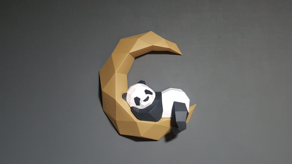 The moon panda papercraft